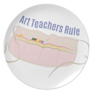 Kunstlehrer-Regel Flacher Teller