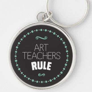 Kunstlehrer-Regel - Schwarzes Schlüsselanhänger