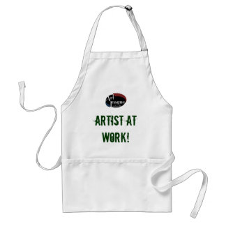 Künstler an der Arbeits-Kunst-Schürze Schürze