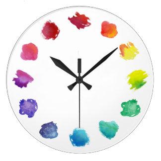 Künstler-Aquarell-Paletten-Wanduhr Uhr