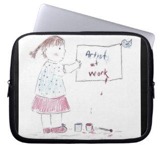Künstler bei der Arbeit Laptop Sleeve