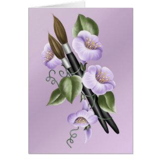 Künstler-Blumenstrauß Karte