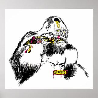 Künstler des Gorilla-x Poster