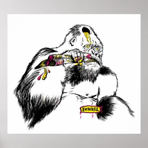 Künstler des Gorilla-x Plakatdruck