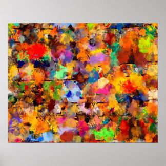 Künstler-Farbabstrakter Kunst-Klecks Poster