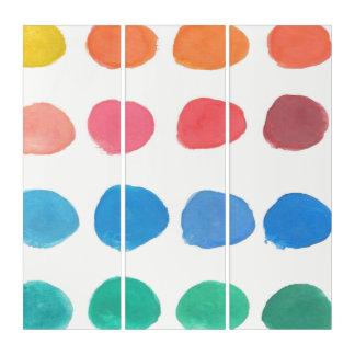 Künstler-Farbe probiert Triptychon-Kunst Triptychon