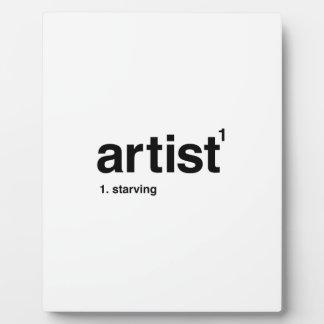 Künstler Fotoplatte