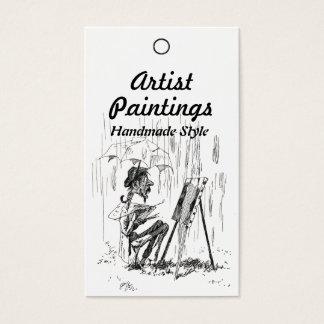 Künstler im Regen-Preis-Produkt-Umbau Visitenkarte
