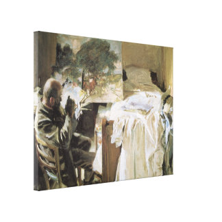 Künstler in seinem Studio durch Sargent, Vintage Leinwanddruck