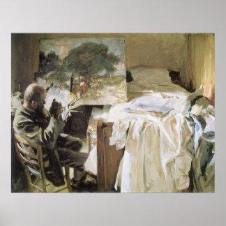 Künstler in seinem Studio durch Sargent, Vintages Poster