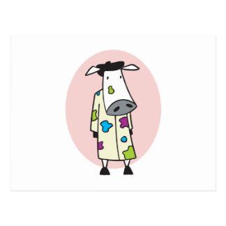 Künstler-Maler-Kuh Postkarte