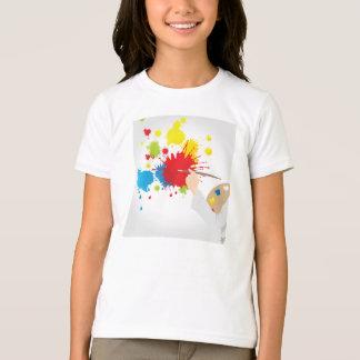 Künstler-Malerei-Mädchen-T - Shirt