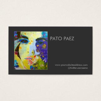 Künstler-oder Fotograf-Fotografie-Schwarz-Foto Visitenkarte