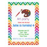Künstler-Paletten-Geburtstags-Party Personalisierte Einladungskarte
