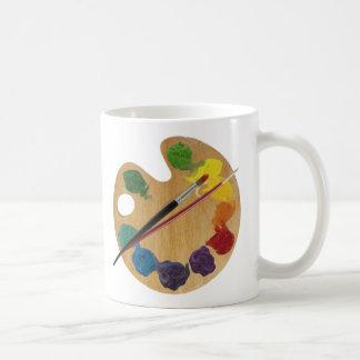 Künstler ` s Paletten-Farbrad Kaffeetasse