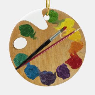 Künstler ` s Paletten-Farbrad Keramik Ornament