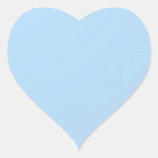 Künstler stellte Farbschatten auf dem GEFORMTEN Herz-Aufkleber