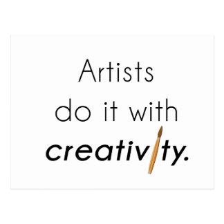 Künstler tun es mit Kreativität Postkarte