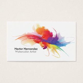 Künstler-Visitenkarte Visitenkarte