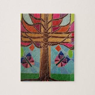 Künstler-Weihnachtsbaum Puzzle