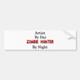 Künstler-/Zombie-Jäger Autoaufkleber