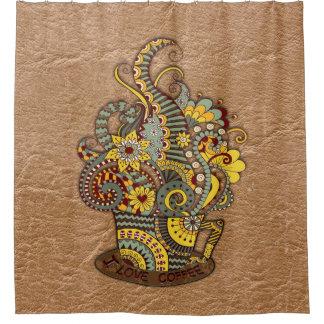 Künstlerisch-Gekritzel-Zeichnen von Kunst Duschvorhang