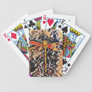 Künstlerisch wärmen Sie Fall, Ton-Libelle Bicycle Spielkarten