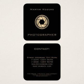 Künstlerische Abdeckung des FotoKameraobjektivs Quadratische Visitenkarte