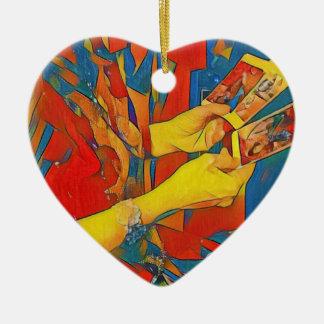 Künstlerische Arznei-Tarot-Lesung Keramik Herz-Ornament