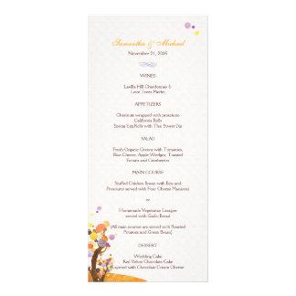 Künstlerische Baum-Thema-Hochzeits-Empfangs-Menüs  Bedruckte Werbekarte