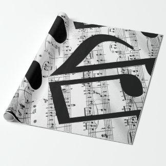 Künstlerische Blatt-Musik Geschenkpapierrolle