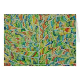 Künstlerische Blattwatercolor-Gruß-Karte Grußkarte