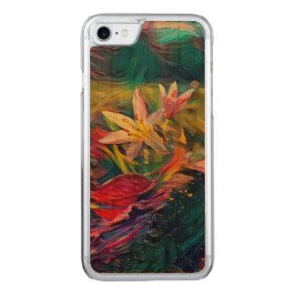 Künstlerische Blume Carved iPhone 8/7 Hülle