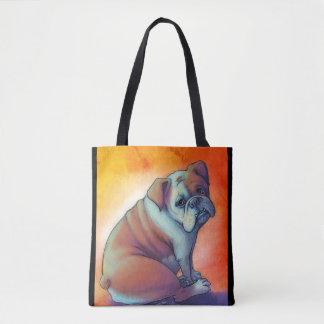 Künstlerische Bulldogge Tasche