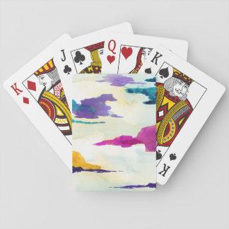 Künstlerische bunte Wasserfarbe-Spielkarten Spielkarten