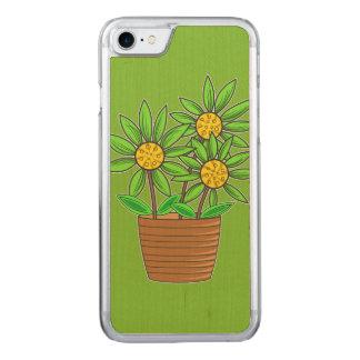 Künstlerische eingemachte Sonnenblume Carved iPhone 8/7 Hülle