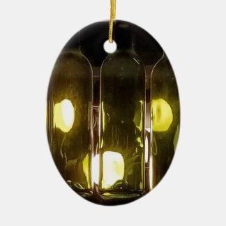 Künstlerische flippige Masculinev Wein-Flasche Keramik Ornament