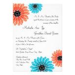 Künstlerische Garten-Koralle und blaue Hochzeit Individuelle Ankündigung
