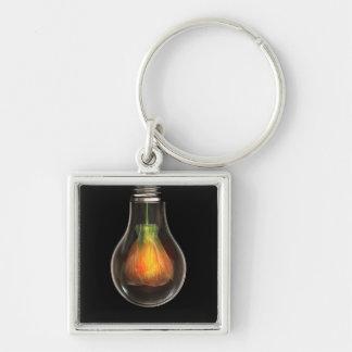 Künstlerische Illustration der Glühlampe Schlüsselanhänger