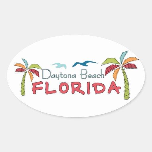 Künstlerische Palmen Daytona Beach Florida Sticker