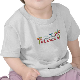 Künstlerische Palmen Daytona Beach Florida T-shirt