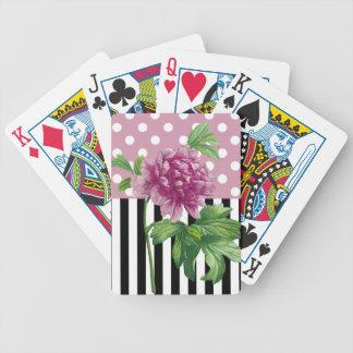 Künstlerische rosa Pfingstrose Bicycle Spielkarten