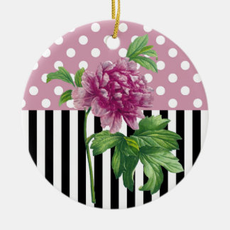 Künstlerische rosa Pfingstrose Keramik Ornament