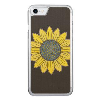 Künstlerische Sonnenblume Carved iPhone 8/7 Hülle