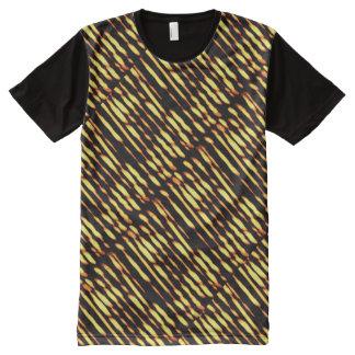 Künstlerische Streifen der Künste-Grafiken T-Shirt Mit Komplett Bedruckbarer Vorderseite
