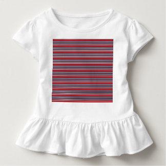 Künstlerische Streifen in patriotischem rotem Kleinkind T-shirt