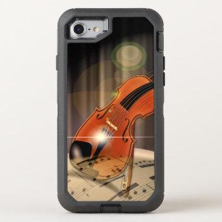Künstlerische Violinen-Musik OtterBox Defender iPhone 8/7 Hülle