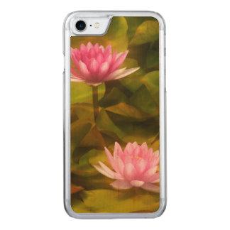Künstlerische Wasserlilien, Kalifornien Carved iPhone 8/7 Hülle