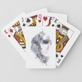 Künstlerische weibliche Hauptspielkarten Spielkarten