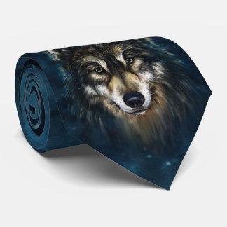 Künstlerische Wolf-Gesichts-Krawatte Krawatte